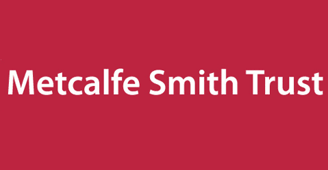 Metcalfe Smith Trust Logo. The logo has a maroon background with letters in white. The letters spell Metcalfe Smith Trust