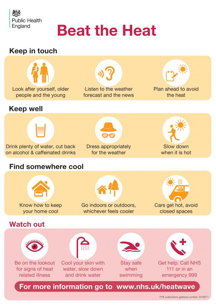 Accessible information about staying safe in hot weather