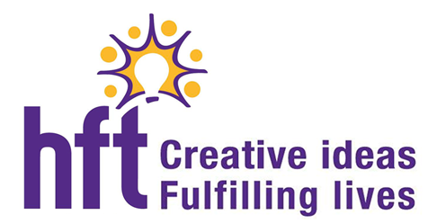 HFT Logo the strapline reads Creative ideas, fulfilling lives.