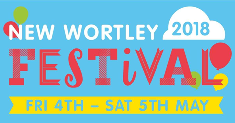 New Wortley Festival 2018 Logo. The text below reads Friday May 4th to Saturday May 5th