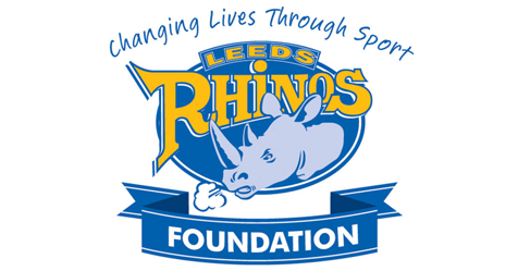 Leeds Rhinos Foundation Logo. The text reads Changing Lives Through Sport Leeds Rhinos Foundation
