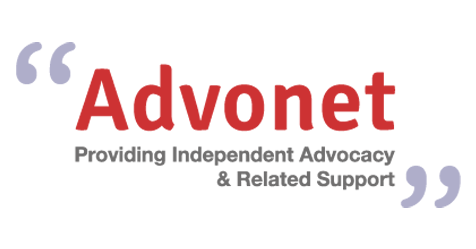 "Advonet logo the strapline reads ""Providing independent advocacy and related support."